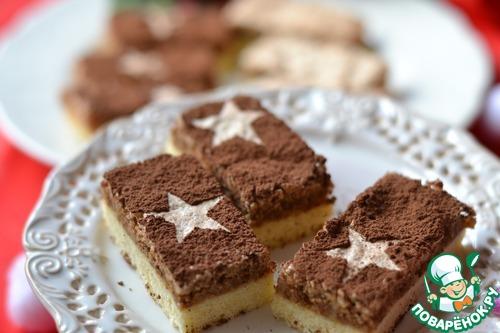 Новогоднее пирожное с ореховым снегом