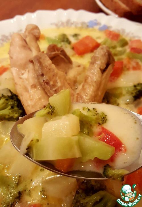 рецепт куриный суп со сливками рецепт с фото