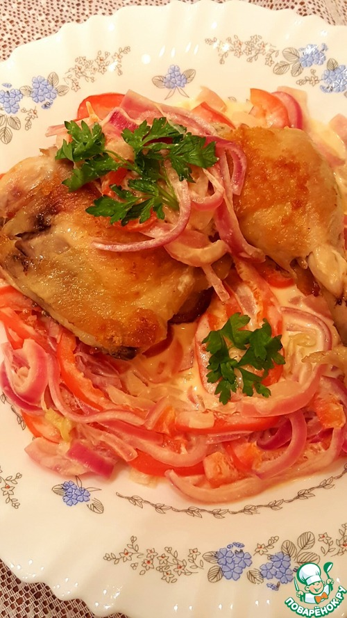 Салат курица и сметана