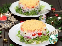 """Салат с кальмаром и овощами """"Новогодний"""" ингредиенты"""
