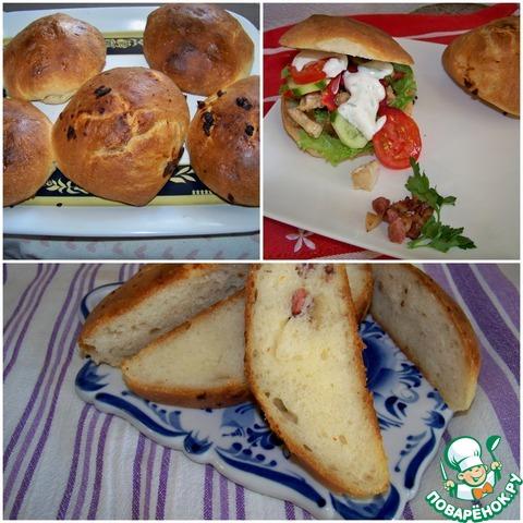 Закусочные булочки рецепт фаршированые