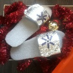 Совет о том как смастерить новогодние ТапочкиПодарочки за 20 минут
