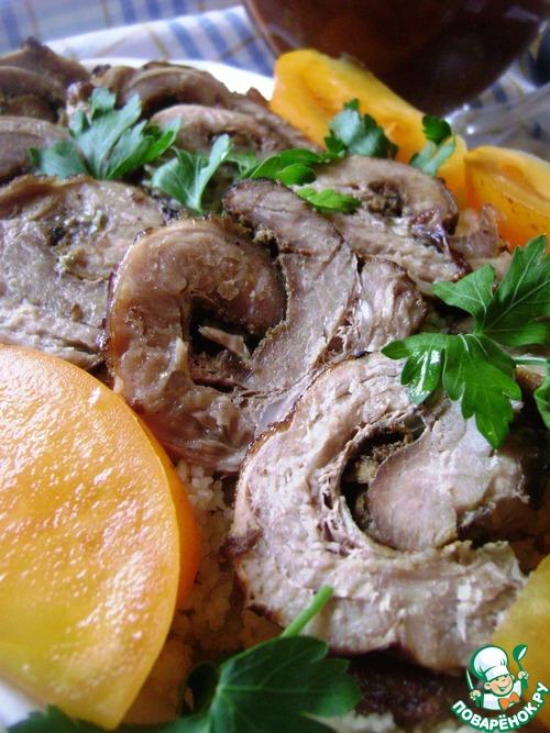 мясной рулет в духовке рецепт из пашины