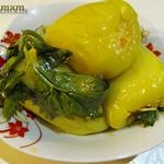 Перец, фаршированный капустой на зиму