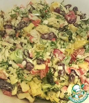 Рецепт: Салат из сладкого перца и фасоли