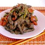 Ароматная острая говядина с овощными лентами