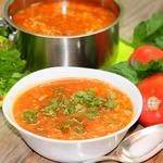 Томатный рисовый суп
