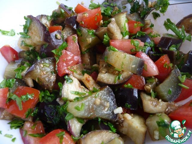 Салат с баклажанами и чесноком рецепт с