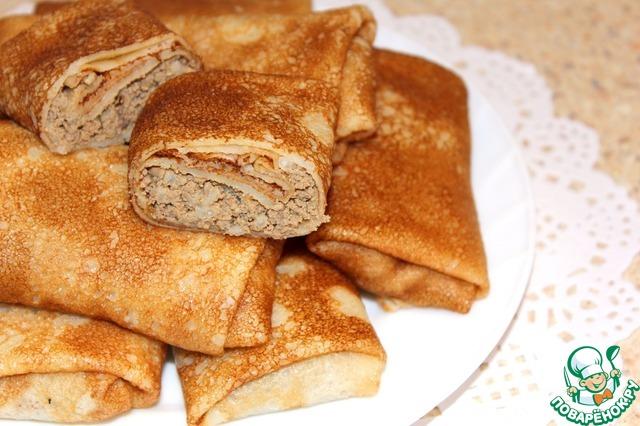 рецепт блины с печенью и рисом