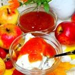 Пюре из яблок, тыквы и шиповника