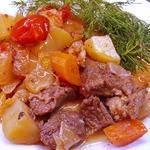 Рагу из говядины способом медленной готовки