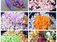 Закусочные трубочки с курицей и овощами ингредиенты