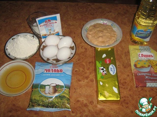рулет из сухого молока рецепт с фото