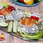 Конвертики с овощами и курицей