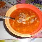 Мясной фасолевый суп Бюджетный