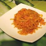 Тушеная капуста с рисом в мультиварке