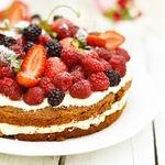 Торт без глютена и сахара