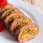 Мясной багет с рисом и овощами