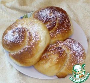 Рецепт: Испанские булочки с заварным кремом