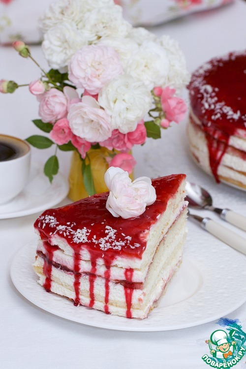 Апфельмусс-торт со сливовой ноткой