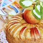 Болонский пирог с полентой и яблоками
