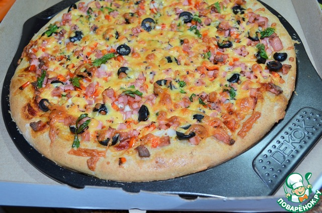 Рецепты пиццы с салаты