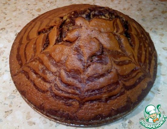 Зебра пирог на кислом молоке рецепт пошагово