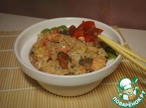 "Рецепт: Рис с морепродуктами ""Как тепаньяки"""