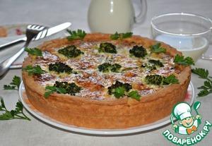 Рыбный пирог с брокколи
