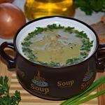 Луковый суп-пюре с перловой крупой