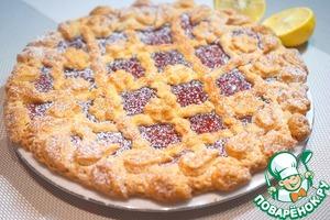 Рецепт: Пирог песочный с клубничным джемом