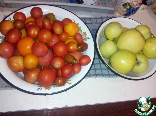 Рецепт помидоров с яблоками без уксуса