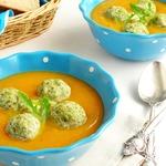 Овощной суп-пюре с куриными фрикадельками