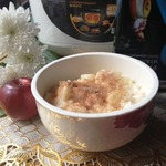 Каша рисовая с яблоками и корицей
