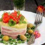 Горохово-картофельная каша с копченым сыром