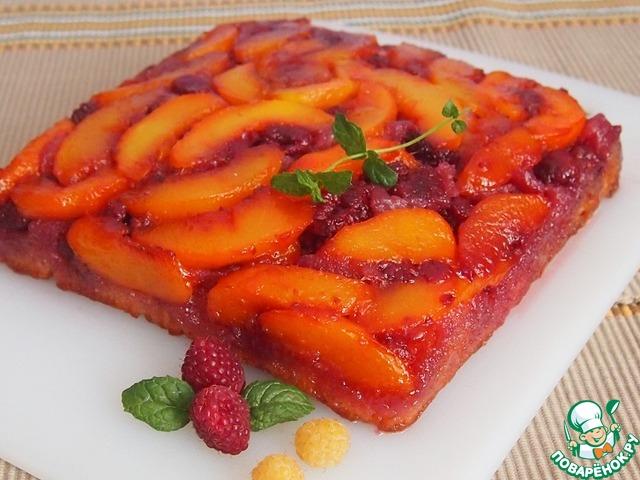 Простой пирог с малиной в духовке рецепт