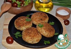 Рецепт: Котлеты из скумбрии с картофельным пюре