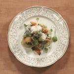 Морской черт с овощами