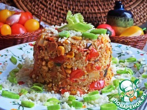 Кус-кус с ветчиной и овощами