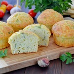 Кабачково-сырные кексы
