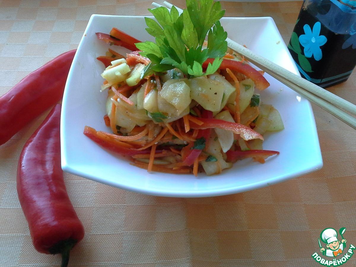 Кабачки по-корейски салат рецепт пошагово