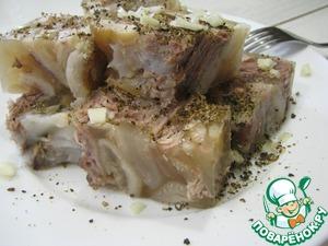 Рецепт: Холодец из свиных ножек