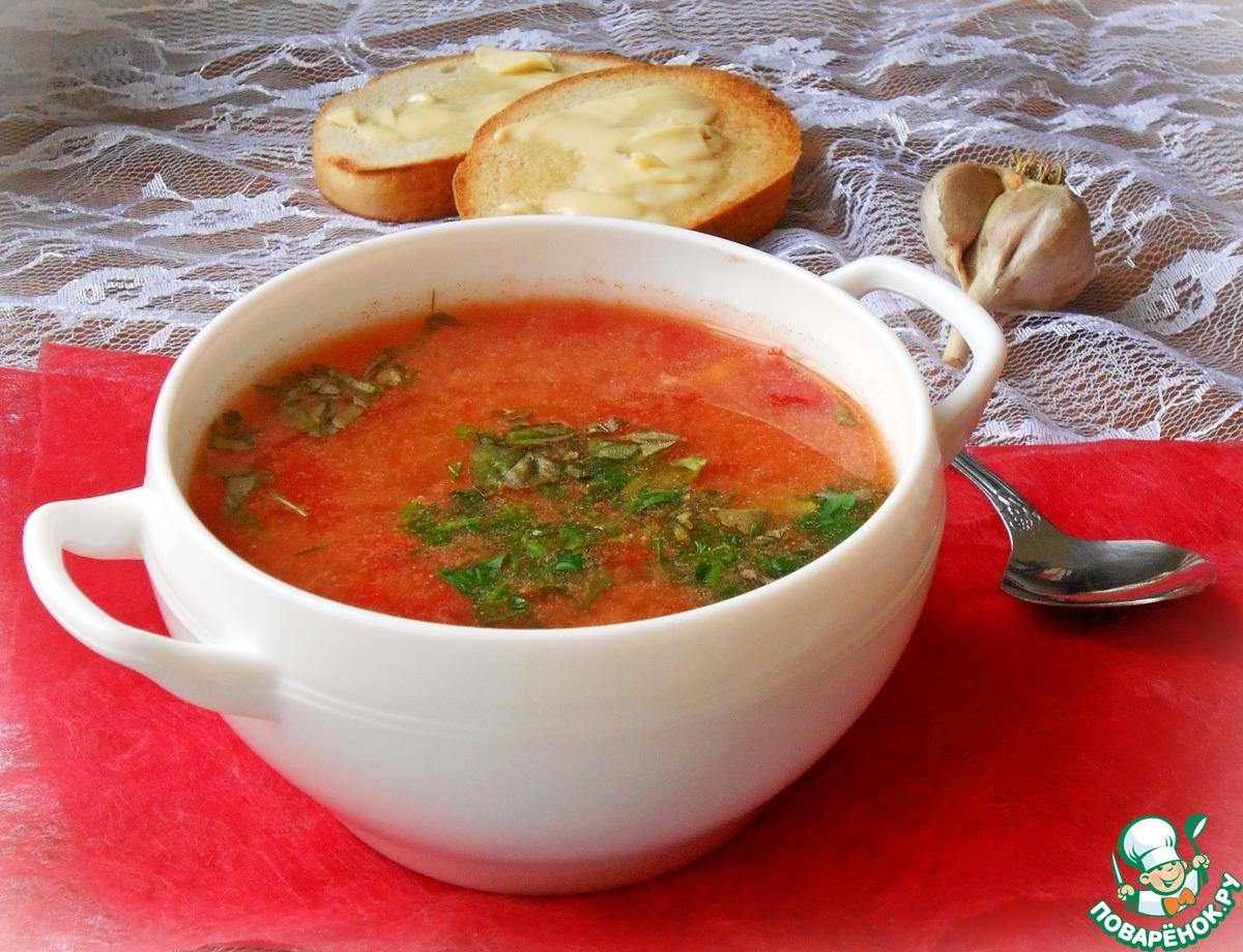 Томатный суп с вермишелью рецепт