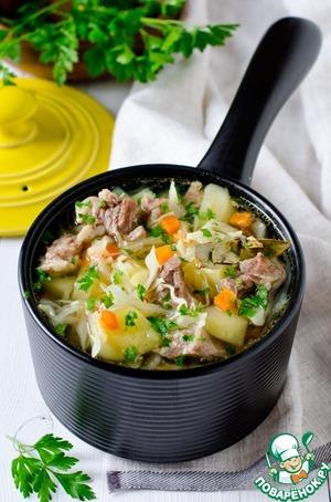 Рецепт: Суп с капустой и мясом