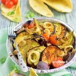 Запеченная под грилем овощная тарелка