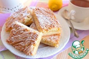Рецепт: Песочный пирог с лимоном