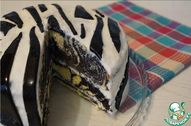 Ингредиенты торт зебра в