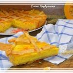 Пирог тыквенно-творожный с яблоком