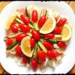 Японский салат с лососем