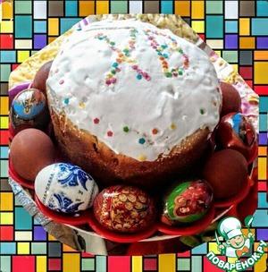 Рецепт: Пасхальный праздничный кулич Весенний